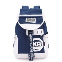 Canvas Rucksack Knapsack Shoulder Bag Campus Laptop Book Bag School Travel Sports Outdoor Backpack ( Royal Blue ):Amazon:Shoes