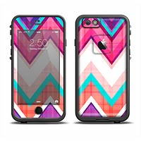 The Vibrant Teal & Colored Chevron Pattern V1 Apple iPhone 6 LifeProof Fre Case Skin Set
