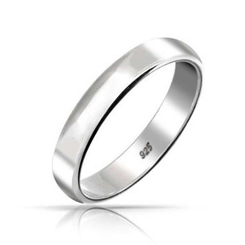 Bling Jewelry .925 Sterling Silver Wedding Band Thumb Toe Ring 4mm