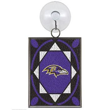 BALTIMORE RAVENS STAINED GLASS SUN CATCHER/ORNAMENT NEW & OFFICIALLY LICENSED