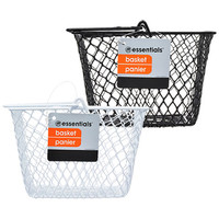 Bulk Essentials Metal Rectangular Wire Baskets with Handles at DollarTree.com