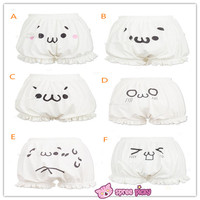 [6 Emoji] Kawaii Emoji Cotton Bloomer With Elastic SP141247