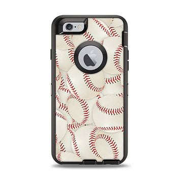 The Baseball Overlay Apple iPhone 6 Otterbox Defender Case Skin Set