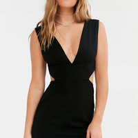 Silence + Noise Deep V Cutout Bodycon Dress | Urban Outfitters