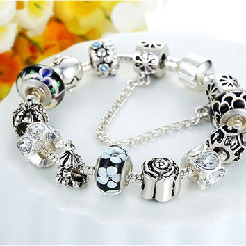 925 Silver Charm bracelet for Women Fit Original Pandora Bracelets