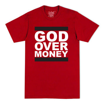God Over Money Tee (Red)