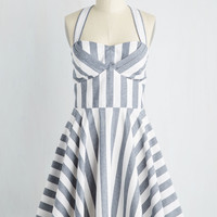 Traveling Cake Pop Truck Dress in Stripes | Mod Retro Vintage Dresses | ModCloth.com
