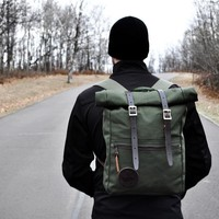 Roll-Top Scout - Camp & Hike - Outdoors :: Duluth Pack :: Made in the USA :: Quality leather and canvas luggage, backpacks, camping, and outdoor gear,
