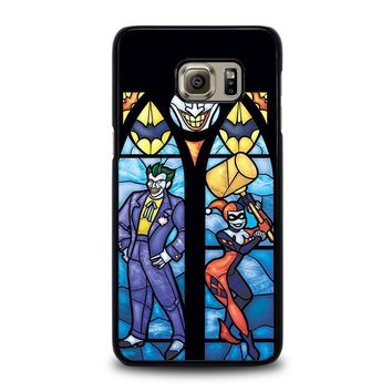 joker and harley quinn art samsung galaxy s6 edge plus case cover  number 1