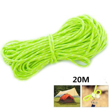 Reflective Nylon Guyline Tent Rope Guy Line Camping Cord Paracord High-strength Outdoor Climbing Camping Ropes