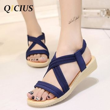 QICIUS Fashion Women Gladiator Sandals Outdoor Casual Summer Shoes Sandals Platform Sh