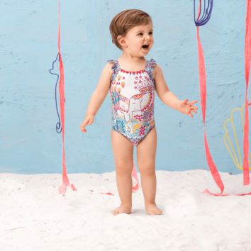 Ondademar Baby Girls Tadan Embellished One Piece