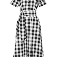 Lisa Marie Fernandez - Gingham poplin shirt dress