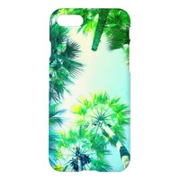 Palm Trees Sky Super Green IPhone 8/7 Case