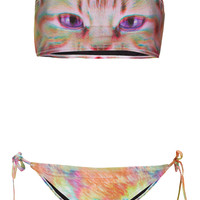 Pink Kitty Bandeau Bikini - Swimwear - Clothing - Topshop USA