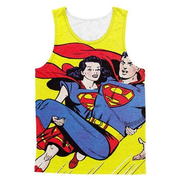 Super lady save super man 3D cotton tanktop