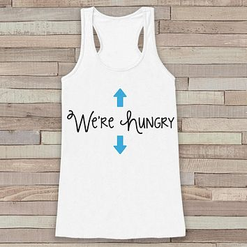 Pregnancy Announcement Tank - Simple Pregnancy Shirt - We're Hungry Baby Boy Tank - White Tank Top - Pregnancy Announcement Shirt - New Mom
