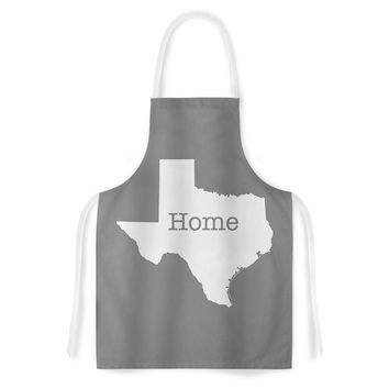 "Bruce Stanfield ""Texas Is Home"" White Gray Artistic Apron"