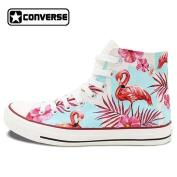 DCCK1IN pink flamingo painted converse