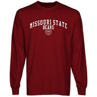 Missouri State University Bears Team Arch Long Sleeve T-Shirt - Maroon