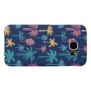 Colorful Tropical Palm Tree Pattern Samsung Galaxy S6 Cases