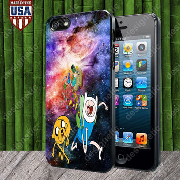 Finn and Jake Galaxy Nebula case for iPhone 5, 5S, 4, 4S and Samsung Galaxy S3, S4