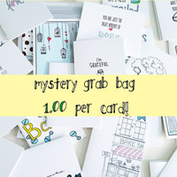 Mystery Card Grab Bag by The Nested Turtle