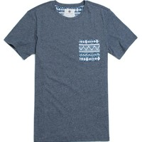 On The Byas Erik Mock Twist Crew T-Shirt - Mens Tee - Blue