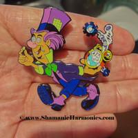 OFFICIAL Mad Hatter LSD Blotter Art Hat Pin
