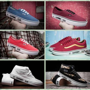 Supreme X Era Motion HC Old Skool Half Cabl Vans Canvas Shoes Classical Women Mens Sneakers Skateboarding Shoes Supreme Shoes
