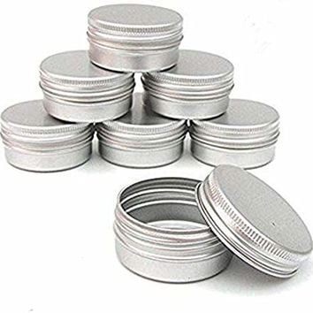 CTKcom Screw Top Round Steel Tins,2-Ounce, For Lip Balm, Crafts, Cosmetic, Candles, Storage Kit(Pack of 10)