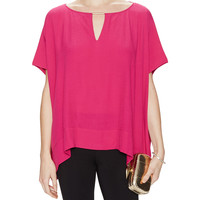 Beonica Dolman Sleeve Top with Embellished Keyhole