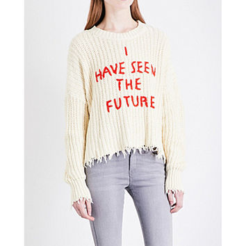 WILDFOX I Have Seen The Future chunky-knit sweater