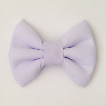 Lavender Fabric Bow (Handmade Bow / Bow Tie / or Headband)