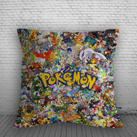 All Pokemon Collage Pillow, Pillow Case, Pillow Cover, 16 x 16 Inch One Side, 16 x 16 Inch Two Side, 18 x 18 Inch One Side, 18 x 18 Inch Two Side, 20 x 20 Inch One Side, 20 x 20 Inch Two Side