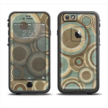 The Blue and Green Overlapping Circles Apple iPhone 6 LifeProof Fre Case Skin Set
