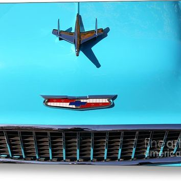 1955 Chevrolet Bel Air Stationwagon 5d26563 Metal Print