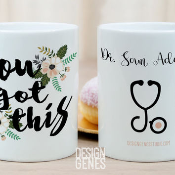 Personalized doctor and nurse's mug