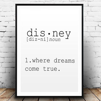 DEFINITION OF DISNEY Funny Wall Art Printable Definition Name Definition Funny Poster Definition Print Definition Poster Typography Print