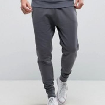 Abercrombie & Fitch Cuffed Joggers Core Slim Fit in Navy at asos.com
