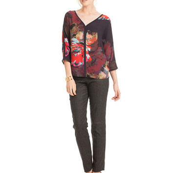 Trina Turk Virtue Floral Print Top