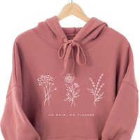 No Rain No Flowers - Hoodie (without zip)