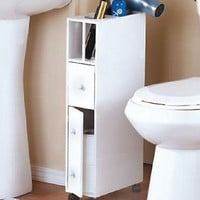 Cabinet Organizer Wooden Bathroom Storage Slim Compact White Kitchen Drawers