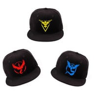 Pokemon Go Team Black Baseball Cap