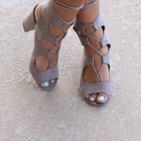 Holy Land Taupe Caged Sandals