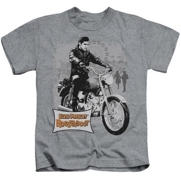 Elvis Presley Boys T-Shirt Roustabout Athletic Heather Tee
