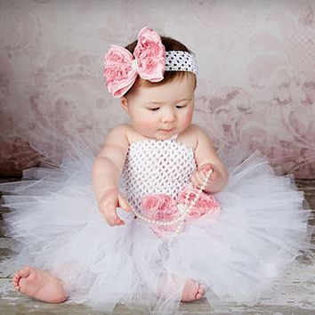 Baby Girls Fancy Princess Tutu Dress  with Headband