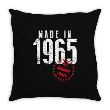Made In 1965 All Original Parts Throw Pillow
