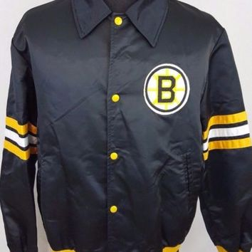 Vintage Boston Bruins Professional Jackets Shain Starter NHL Jacket Size XL