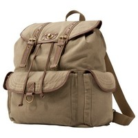 Mossimo Supply Co. Army Green Canvas Backpack